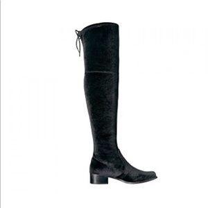 Charles David Over The Knee Boots - Black Velvet